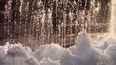A frozen fountain Stock Footage