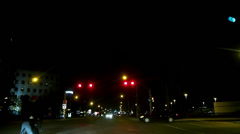 Nighttime Urban Driving Stock Footage