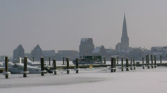 Winter in Germany - Rostock, Baltic Sea Stock Footage