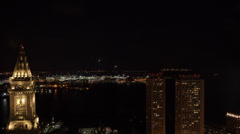 Boston logan airport night timelapse Stock Footage