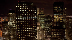 Night Highrise building windows Stock Footage