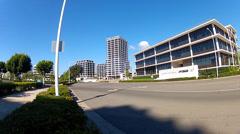 San Nicolas Drive- Newport Beach California Business District Stock Footage