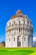 Pisa, miracle square. bapstistry of pisa. tuscany, italy Stock Photos