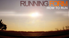 Motion graphics text animation silhouette running man - stock footage
