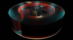 Reactor engine cylinder with alpha Stock Footage