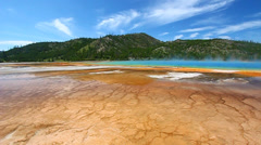 Grand Prismatic Spring - Yellowstone Stock Footage