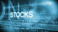 CG text motion graphic of financial business stock markets Stock Footage