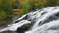 Bond Falls Northwoods Michigan - stock footage
