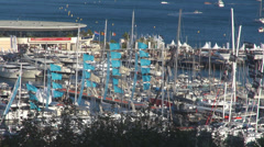 Timelapse cannes port yacht modern boat luxury leisure lifestyle summer day sail Stock Footage