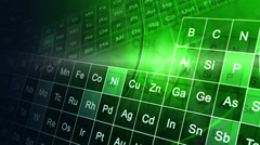 CG motion graphic education animation periodic table Stock Footage