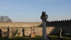 Fifteenth  century graveyard Stock Footage