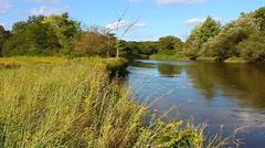 Kishwaukee River of northern Illinois Stock Footage