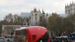 Westminister Abbey Long Shot Stock Footage