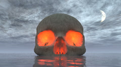 skull island night moon - stock footage