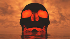 skull island red sky - stock footage