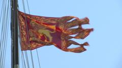 Venice flag 01 Stock Footage