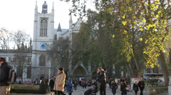 West Minister Abbey on a brisk winter day Stock Footage