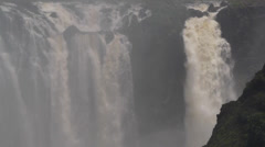 Mid shot at mass of falling water, Victoria Falls 8 Stock Footage