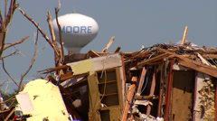 Stock Video Footage of Moore, OK Tornado Damage