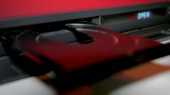 DVD player close tray - stock footage