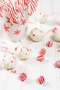 Stock Photo of peppermint chocolate cake pops