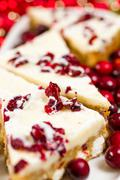 Stock Photo of cranberry bliss bar