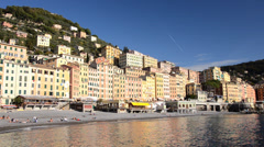 Camogli beach Stock Footage