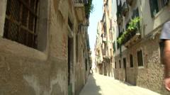 Canareggio calle 01 Stock Footage