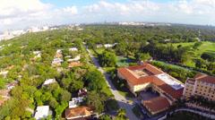 Aerial Biltmore Hotel Miami Stock Footage