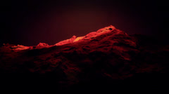 Red liquid ocean sea water lava magma,red mountain orogeny & volcanic activity. - stock footage