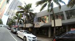 Driving through Downtown Miami Stock Footage