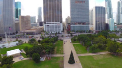 Aerial footage of Downtown Miami Stock Footage