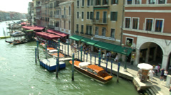 Stock Video Footage of Canal Grande Rialto 03