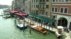 Canal Grande Rialto 03 Stock Footage