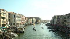 Canal Grande Rialto 02 Stock Footage