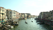 Stock Video Footage of Canal Grande Rialto 02