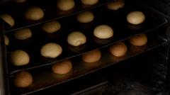 Baking rolls Stock Footage