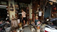 Chor Bazaar, Mumbai, India Stock Footage