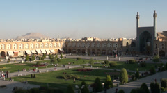 Imam Square in Isfahan, skyline of a city, Iran Stock Footage