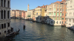 Stock Video Footage of Canal Grande Rialto 01