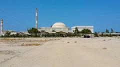 Bushehr nuclear power plant, bushehr,iran. Stock Footage