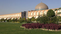 Colorful mosque in Isfahan Iran Stock Footage