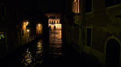Canal Grande calle night 01 - stock footage
