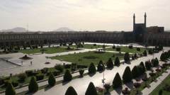 Imam Square in Isfahan, Iran Stock Footage