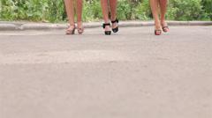 Female feet Stock Footage