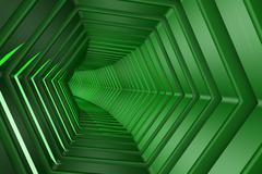 Hexagon Tunnel Stock Illustration