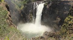 Devils cataract, Victoria Falls, Zimbabwe 17 Stock Footage