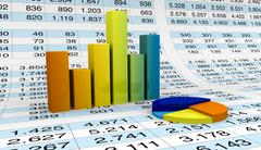 charts and spreadsheets - stock illustration