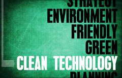 clean technology - stock illustration