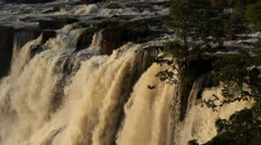 Falling mass of water, Victoria Falls, Zambia 22 Stock Footage